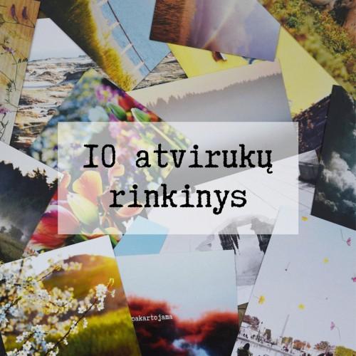 10 pasirinktų atvirukų rinkinys